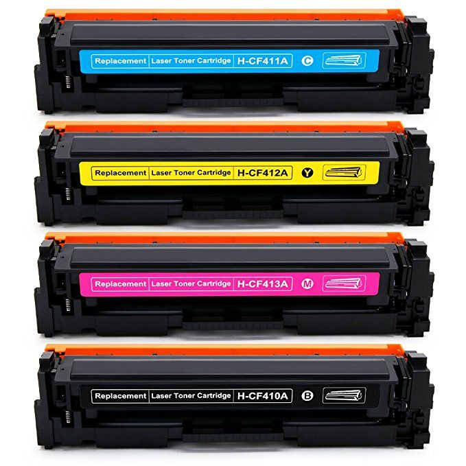 Office World 4 Packs 410a Compatible Toner Cartridge Replacement For Hp 410a Cf410a 1 Black 1 Cyan 1 Magenta 1 Yellow Work With Color Laserjet Pro Mfp M477