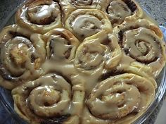 Pioneer Woman Cinnamon Rolls. This has the recipe halved, the Pioneer Woman's recipe makes 7 pans of rolls!
