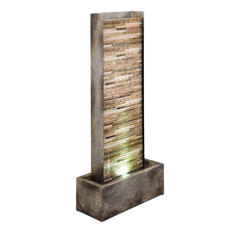 """Brunnen """"Wall"""" grau Zimmerbrunnen beleuchtet Zimmerdeko Dekobrunnen Deko in Möbel & Wohnen, Dekoration, Brunnen, Wasserwände & -säulen   eBay"""