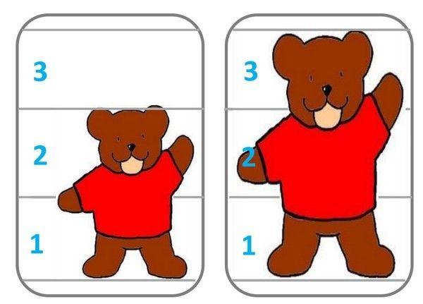 C'est la période Boucle d'Or... En m'inspirant du site la maternelle de Moustache, j'ai créé des cartes qui permettent de classer, trier (notion de grandeur ) et jouer à la bataille. Elles sont en 3 niveaux : doigts, constellations de dé, écriture chiffrée....