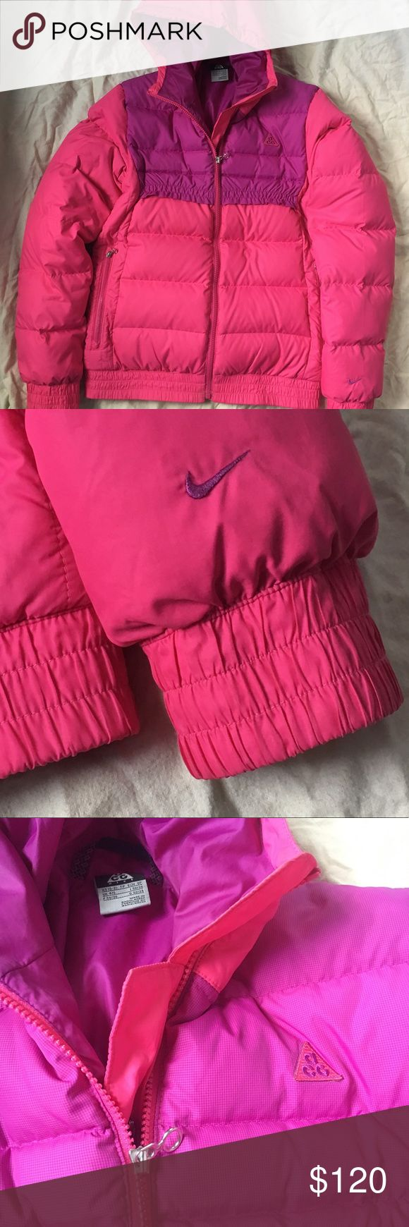WINTER IS COMING Pink & Purple ACG by Nike Coat XS The absolute coolest winter coat. Amazing hot pink and purple coat. Vintage style. Some minor staining. Minor rip as seen in pictures. Make offers or bundle! Nike ACG Jackets & Coats Puffers
