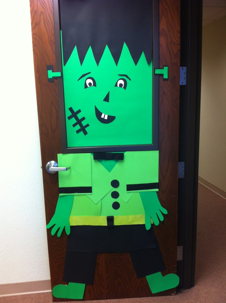 Model Halloween Door Decorating Ideas Office  Nice Decoration