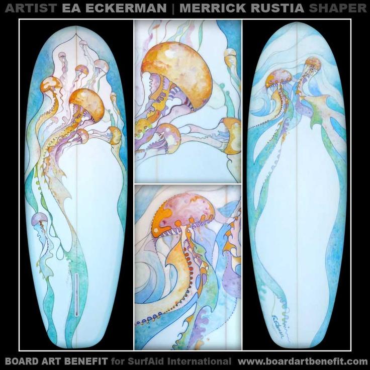 Board Art by Ea Eckerman-Girl With A Surfboard