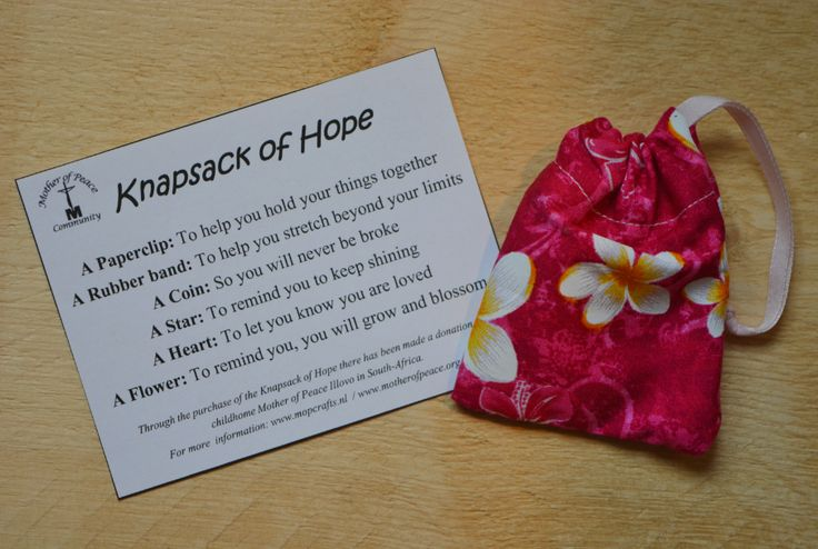 Explanation of the knapsack of Hope