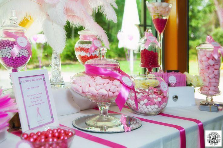 Pink and White Candy Buffet. K & G Cart Co Sunshine Coast