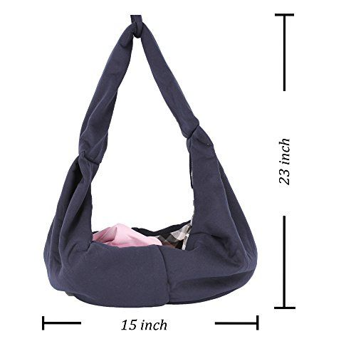 HITOP Dog Cat Pet Sling Carrier Bag, Outdoor Slings Carriers Reversible Shoulder Bag | Dog Supplies - Warning: Save up to 87% on Dog Supplies and Dog Accessories at Our Online Pet Supply Shop