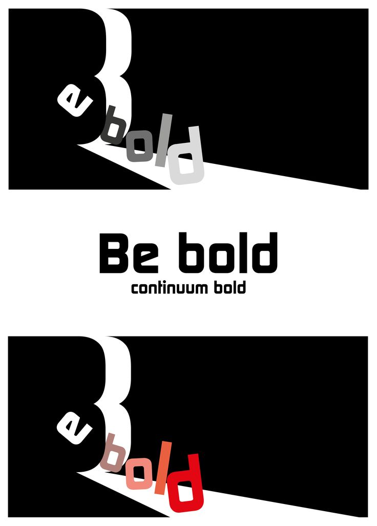 Be Bold Exercise with fonts