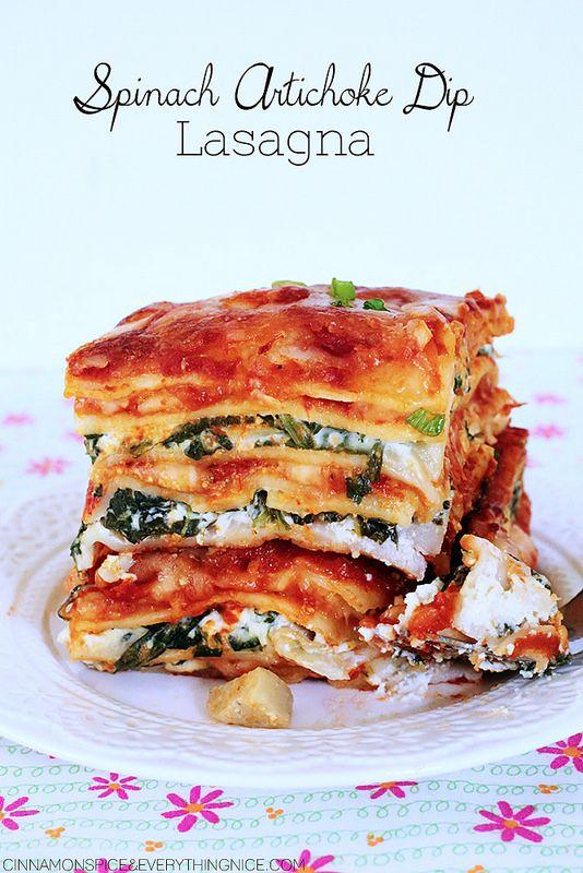 Spinach Artichoke Dip Lasagna