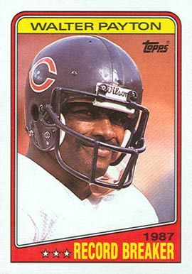 walter payton football cards | 1988 Topps Walter Payton #5 Football Card