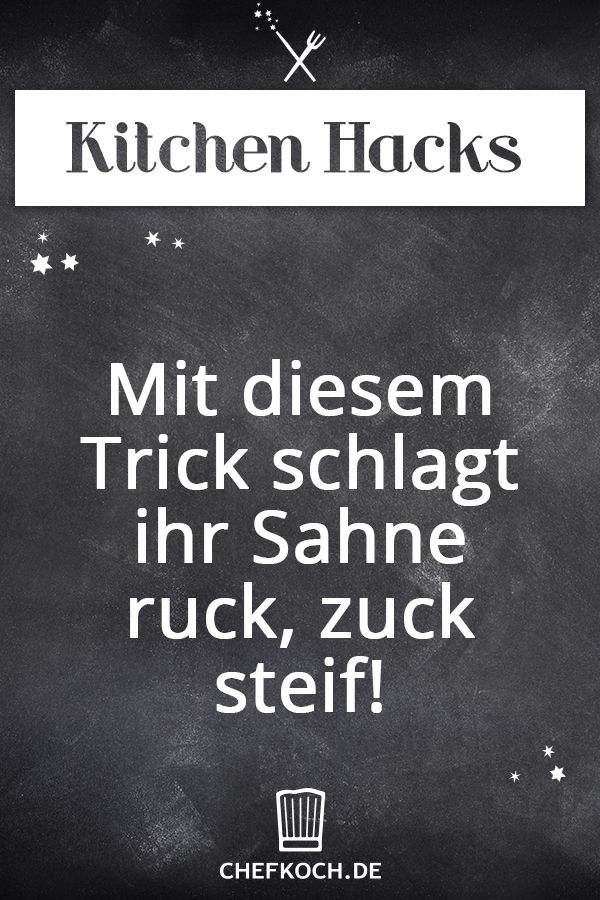 Kitchen Hack: Mit diesem Trick schlagt ihr Sahne ruck,zuck steif!