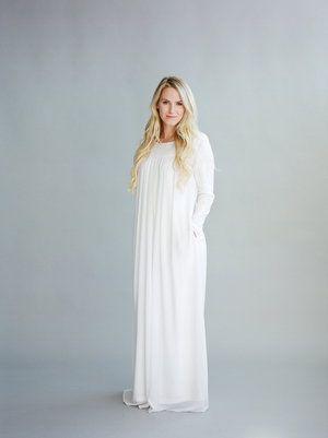 Q.NOOR LDS Temple dress Goldie