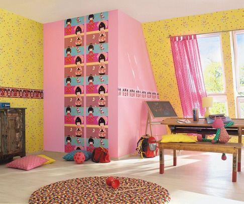 PAPEL PINTADO KIDS CLUB 231038 y Cenefa Infantil Kid's Club 231915. ¡Menos de 26 EUROS! Catálogo de papeles pintados infantil para paredes que además incluyen un repertorio de cenefas infantiles Y revestimientos para las habitaciones juveniles.