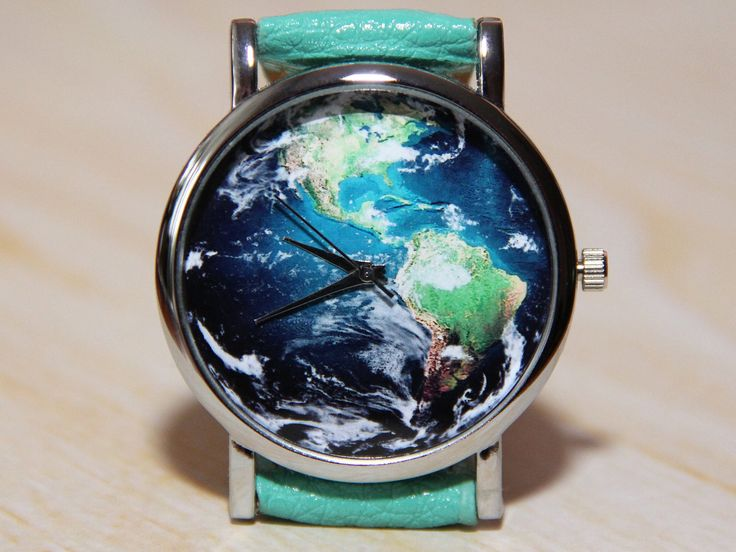 Wrist Watch planet, world map watch, watch earth, unique watches ...