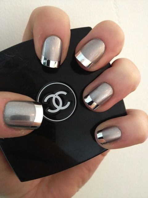 Best 25+ Silver tip nails ideas on Pinterest | Nail tip designs, Gel nail  tips and French tip nail designs - Best 25+ Silver Tip Nails Ideas On Pinterest Nail Tip Designs