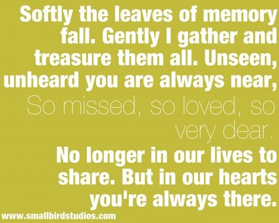 So missed. So Loved. So very dear ♥