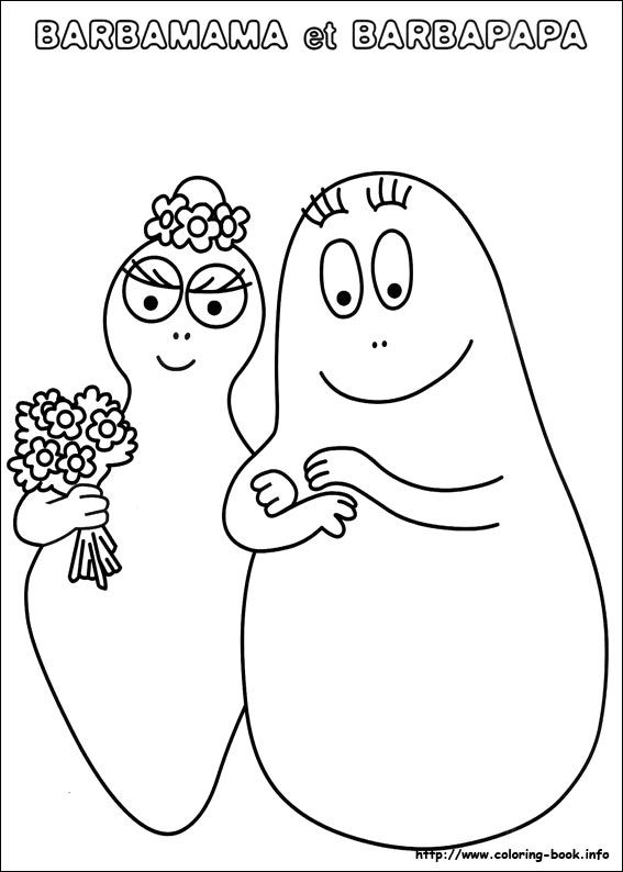 Barbapapa coloring picture