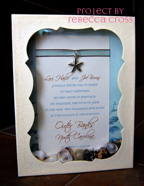 Great Ideas For The Busy Little Bride: Beach Themed Wedding Invitations!