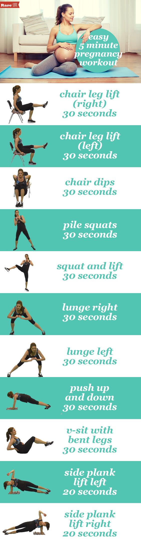 @hcat's ultimate #Pregnancy fitness guide! The perfect 5 minute #maternity workout! Grab a chair and you are set for a great #workout.