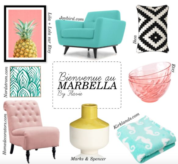 Sélection déco inspirée de Jane The Virgin sur le blog !  https://flaviepeticoeur.com/2016/11/24/a-lhotel-marbella/