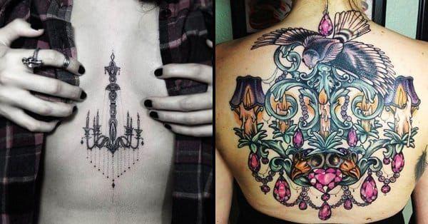 15 Exquisite Chandelier Tattoos