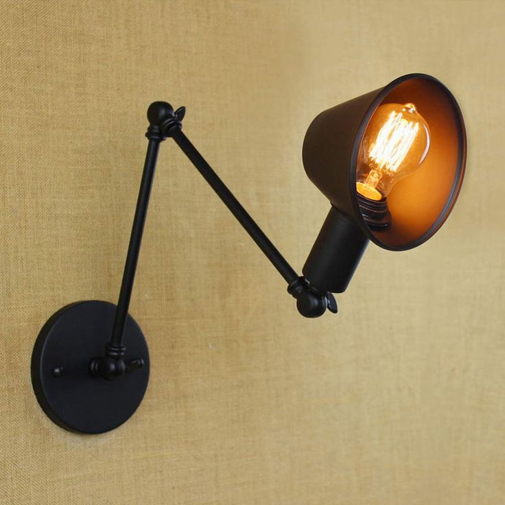 13 best wall lamps images on pinterest appliques swing arm wall cheap designer cardigans for women buy quality lamp directly from china lamp suppliers loft retro matte black iron shade adjustable swing arm reading wall aloadofball Image collections