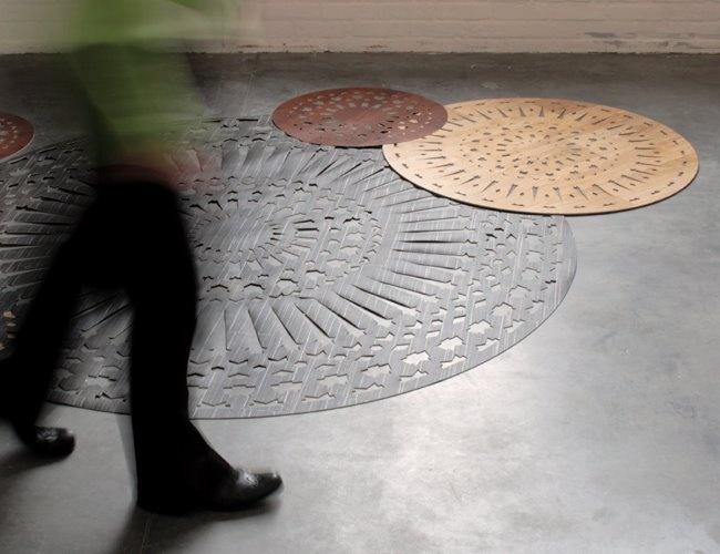 Runda mattor med nya former