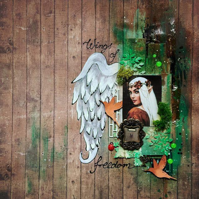 Szymka-Blog z Inspiracjami: {249} Wings of Freedom - Lo Scrapbooking