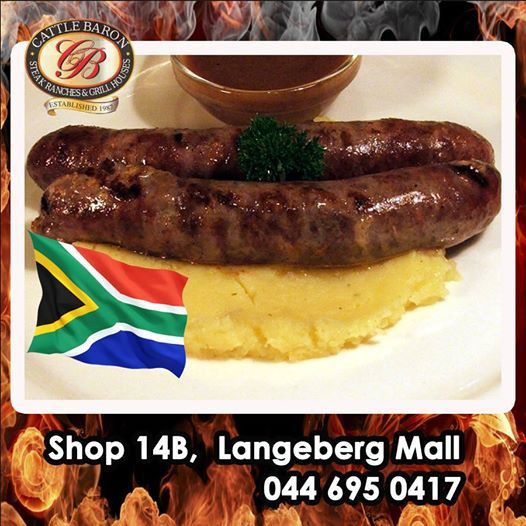 The public holiday is for the celebration of Freedom, so come on down to Cattle Baron Mossel Bay and try our truly traditional South Africa Boerewors and Mash, it will leave you feeling liberated. #steakhouse #cuisine #publicholiday