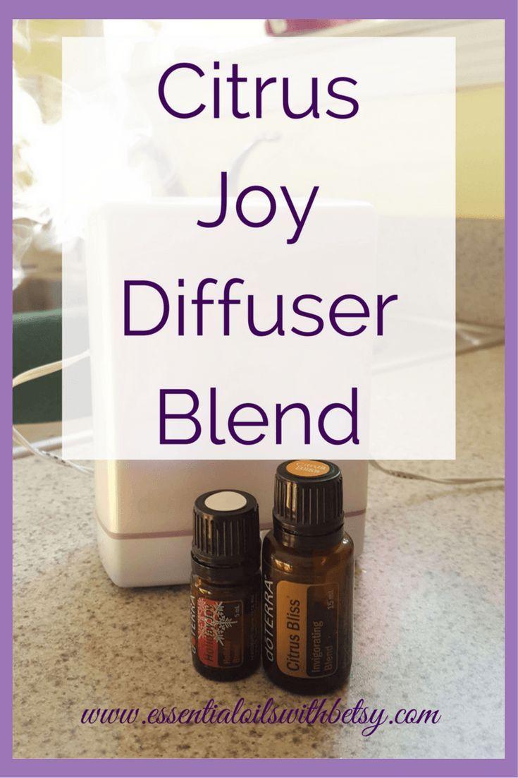 Citrus Joy Holiday Diffuser Blend 2 drops doTERRA Holiday Joy blend 4 drops doTERRA Citrus Bliss blend