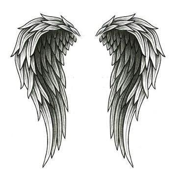 wings and cross   angel wings tattooed on back angel wings tattoo cute cross symbol and ... #tattoosonneckback