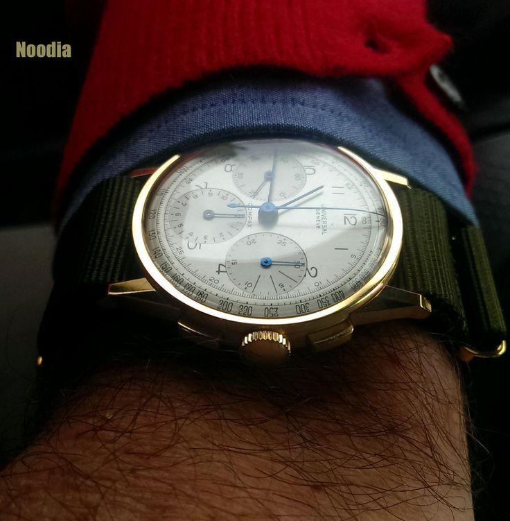 Noodia's fantastic Universal Geneve Compax Ref. 12510 #luxurywatch #Universal-Geneve Universal Geneve Swiss Watchmakers watches #horlogerie @calibrelondon