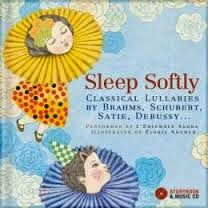 """""""This book will become a treasure as you tuck your little one into bed each night. Sixteen classical lullabies orchestrated for a wind quintet and harp are performed exquisitely by the critically acclaimed L'Ensemble Agora. Beautiful music will lull your baby into the land of dreams where whimsical, dream-like illustrations from the book will inhabit their minds, calming them and giving them peace."""" ~ Marilyn Panton of babybookworms.blogspot.ca"""