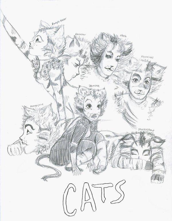 Рисунки к мюзиклу кошки