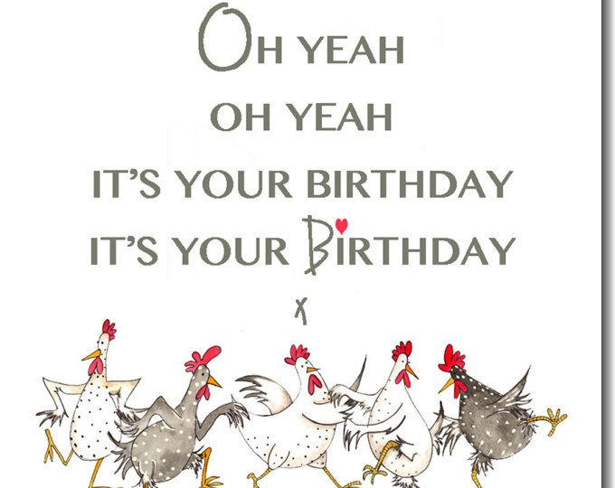 Chicken Card Do The Funky Chicken Greeting Card Birthday Etsy Chicken Greeting Cards Cards Birthday Cards