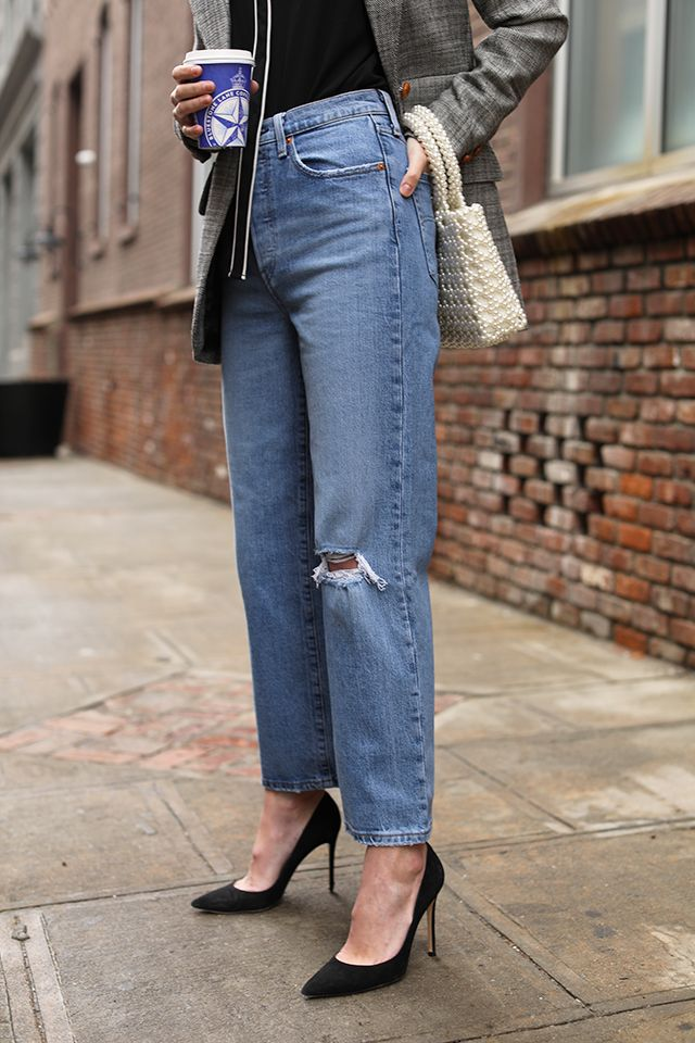 b19d69ea Blair Eadie wearing the new Ribcage Straight Jean from Levi's // Click  through to see