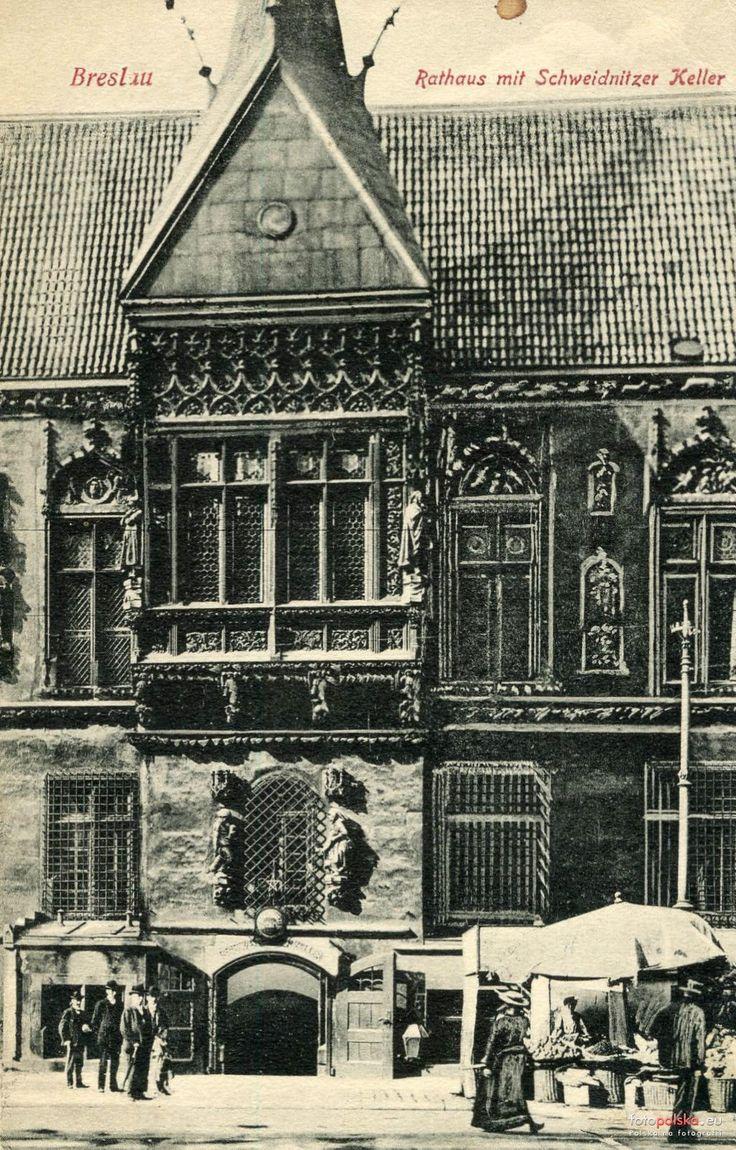 Wejście do Piwnicy Świdnickiej (Schweidnitzer Keller - Eingang), Wrocław - 1908 rok, stare zdjęcia