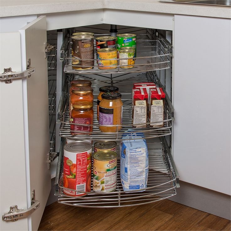 Bunnings Kitchens Design: REstored 900mm 3 Tier Chrome Pullout Rotating Corner