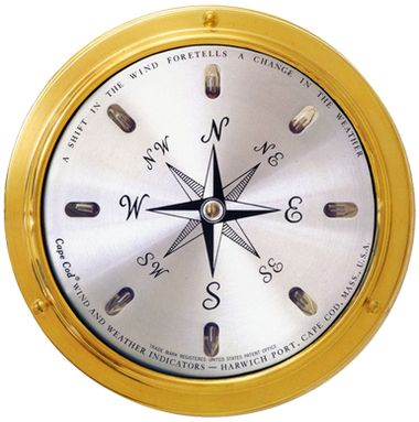 Cape Cod Wind Direction Nautical Instrument Available now at the best price only at www.everythingnautical.com  #Nautical #Home #Decor #Gifts