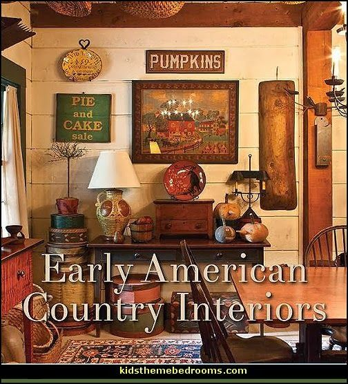 Early american home decorating ideas