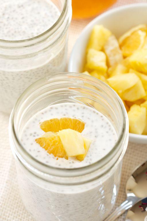 Tropical Coconut Chia Pudding Jars | GI 365