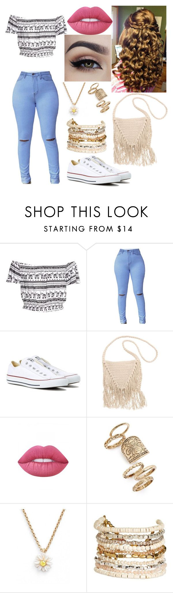 """""""Untitled #211"""" by mama-seokjin92 ❤ liked on Polyvore featuring Converse, Billabong, Lime Crime, Topshop, Kate Spade and Panacea"""
