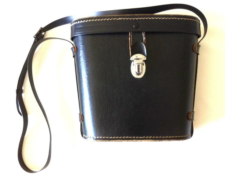 Black Vintage Case with Buckle and Strap for Binoculars Camera Etc | eBay