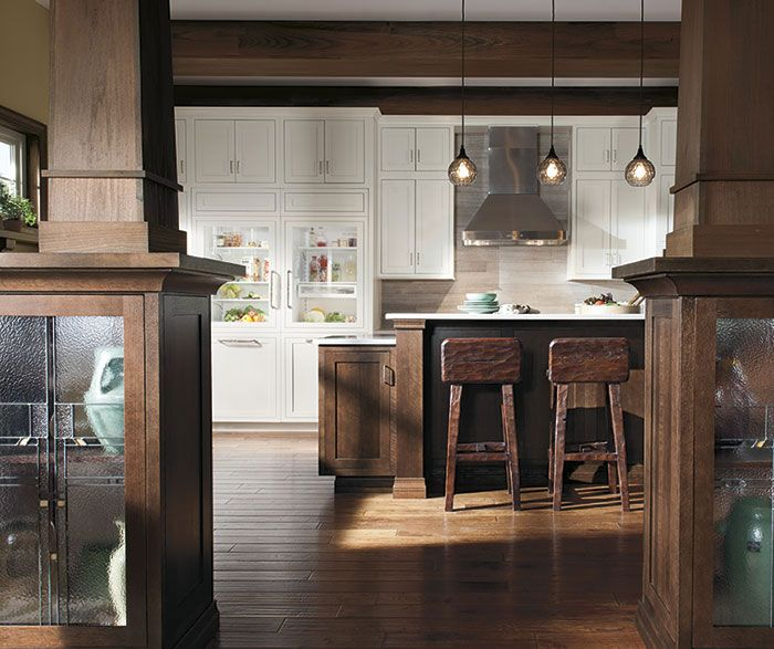 Rustic Oak Kitchen Cabinets: Decora Brand, Harmony Inset, Quartersawn Oak, Sepia Finish