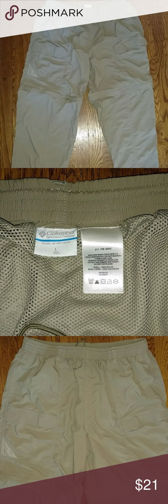 Columbia Aruba IV convertible pants New. Info online, rated high. Quick dry textured nylon poplin fabric . Omnishield. Upf 50 . Elastic waist, with tie and mesh lining. Color sage Columbia Pants Cargo
