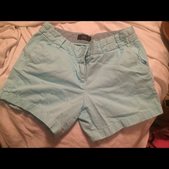 J. Crew Chino Shorts - Sky Blue Beautiful sky blue! 5in short length.  All offers are reviewed and highly considered. I always have great bundle deals, check out my page for the current offer! Please ask if you have any questions!  J. Crew Shorts