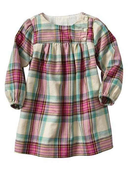 Gap | Plaid dress. After-school shirt extended to dress length?