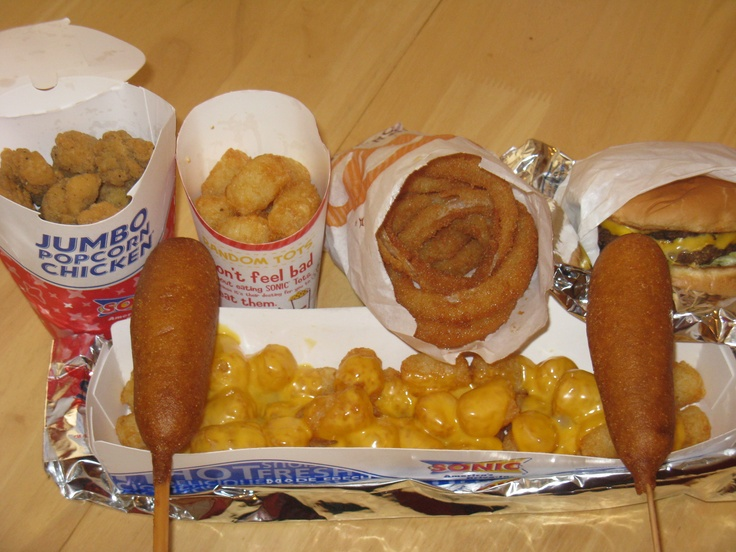 Sonic Drive-In - Late Night Feast (corn dogs, cheeseburger, onion rings, tater tots, popcorn chicken)