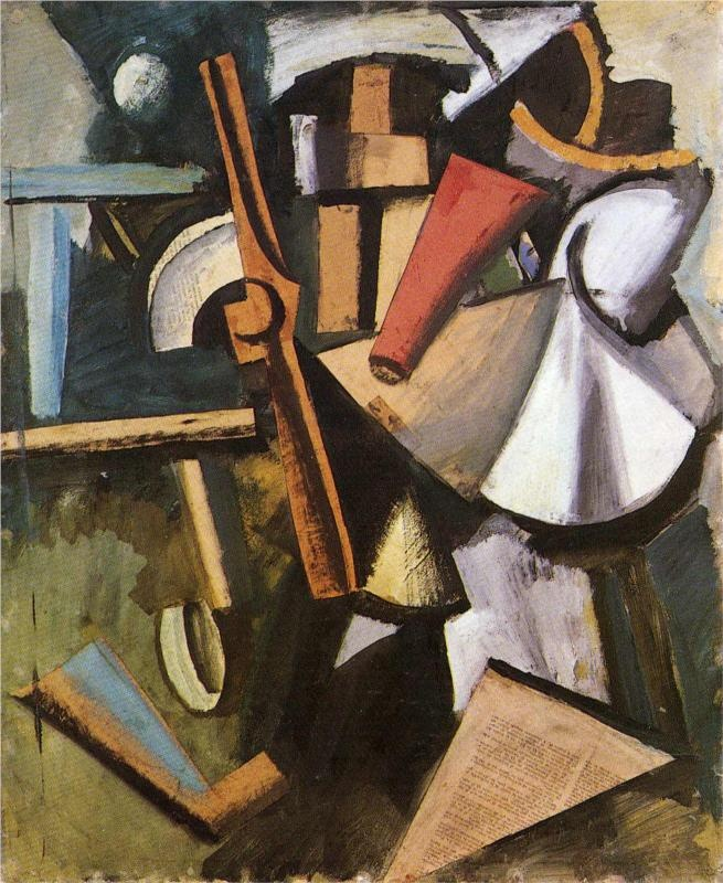 Composition With Propeller-Mario Sironi - by style - Cubism