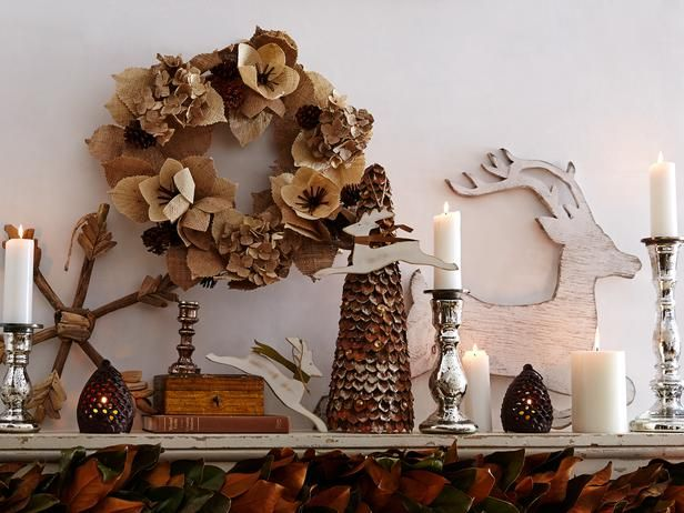 Holiday Decorating Ideas From HGTV + One Kings Lane (http://blog.hgtv.com/design/2013/11/05/holiday-decorating-ideas-from-hgtv-one-kings-lane/?soc=pinterest)Xmas Decor, Christmas Time, Decor Ideas, Mantel Decor, One King Lane, Rustic Christmas, Holiday Decor, Rustic Mantles, Christmas Mantels