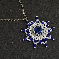 Hi, girls. Do you need a chic glass and pearl beads necklace? Then why don't you follow this Pandahall tutorial on how to make flower glass beads necklace with pearl beads to make one for yourself.